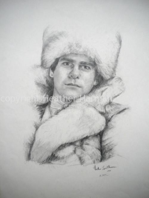 Elton - graphite on paper 1979