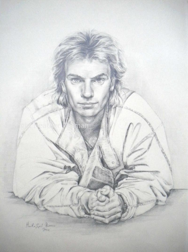 Sting Graphite Drawing