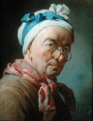Chardin - self portrait with glasses 1771 Louvre Paris