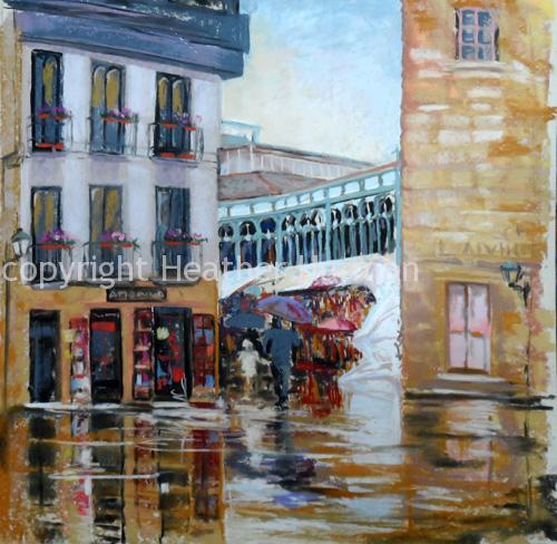 Oviedo in the rain