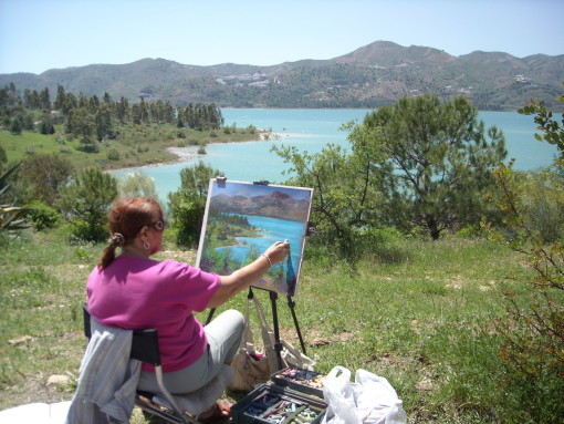 Heather Demonstration at Lake Vinuela