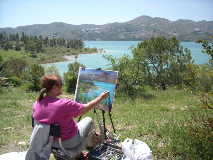 Heather Demonstration at Lake Vinuela