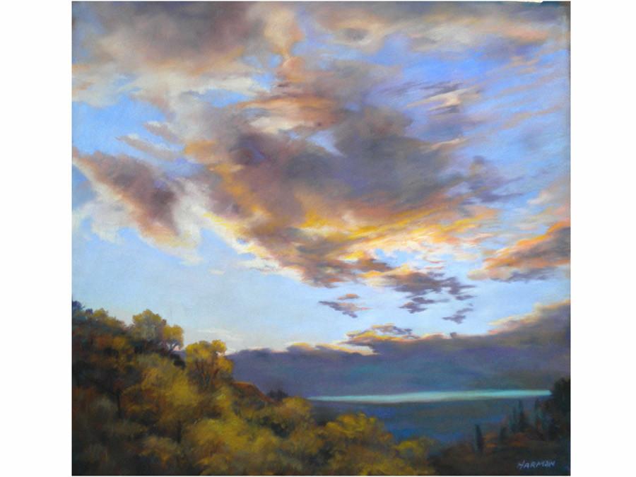 Sunset over Vinuela 2